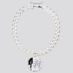 6575_biology_cartoon Charm Bracelet, One Charm