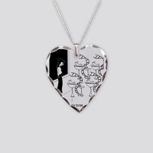 6575_biology_cartoon Necklace Heart Charm