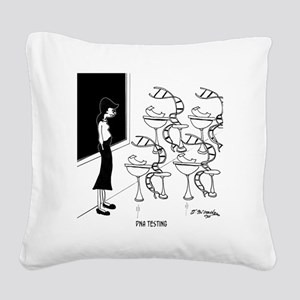 6575_biology_cartoon Square Canvas Pillow