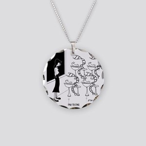 6575_biology_cartoon Necklace Circle Charm