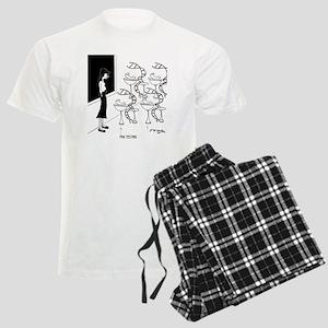 6575_biology_cartoon Men's Light Pajamas