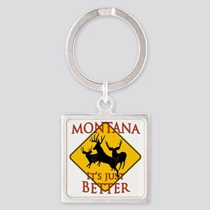 Montana is better Square Keychain