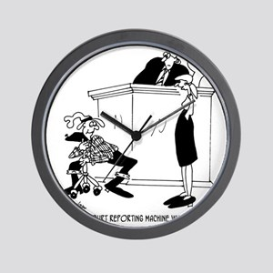 7419_court_reporter_cartoon Wall Clock