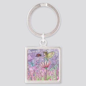 a friendly encounter poster zazzle Square Keychain
