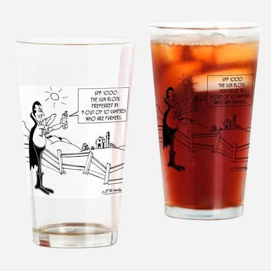 7648_vampire_cartoon Drinking Glass