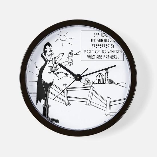 7648_vampire_cartoon Wall Clock