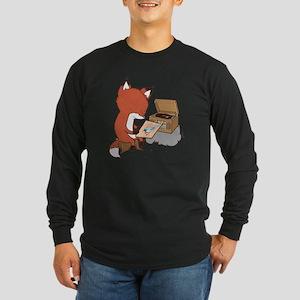 fox Long Sleeve Dark T-Shirt