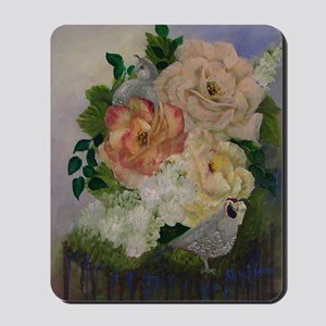 Flowers and Quail2 Mousepad
