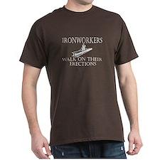 Ironworkers Walk on their Ere Dark T-Shirt
