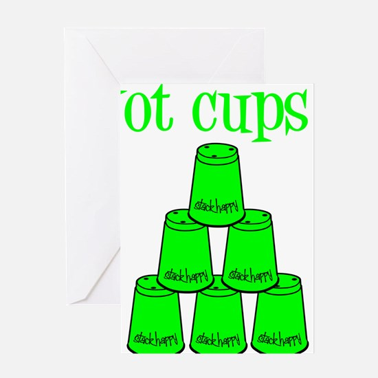 lime, got cups Greeting Card