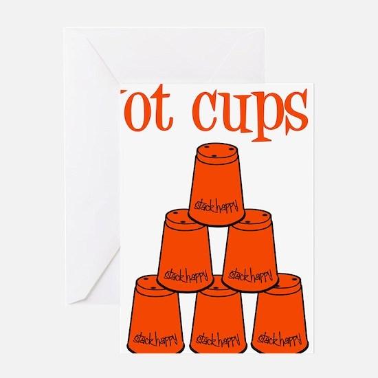 orange, got cups Greeting Card