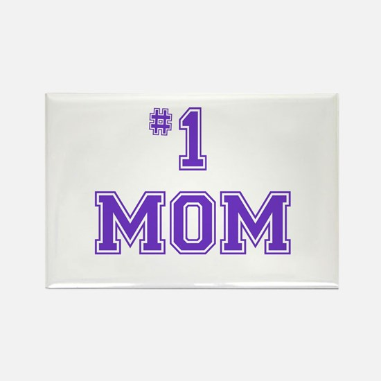#1 Mom in purple Magnets