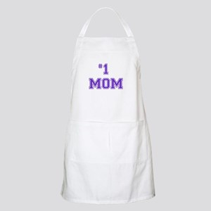 #1 Mom in purple Apron