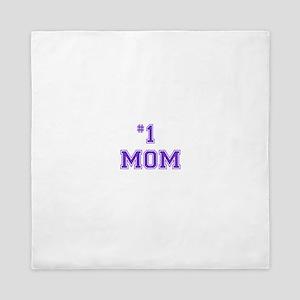 #1 Mom in purple Queen Duvet