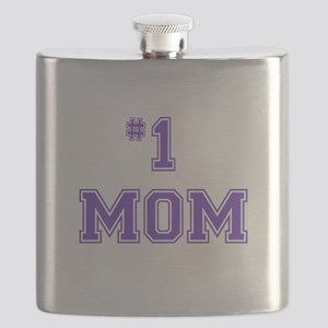 #1 Mom in purple Flask