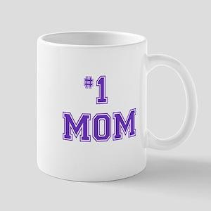 #1 Mom in purple Mugs