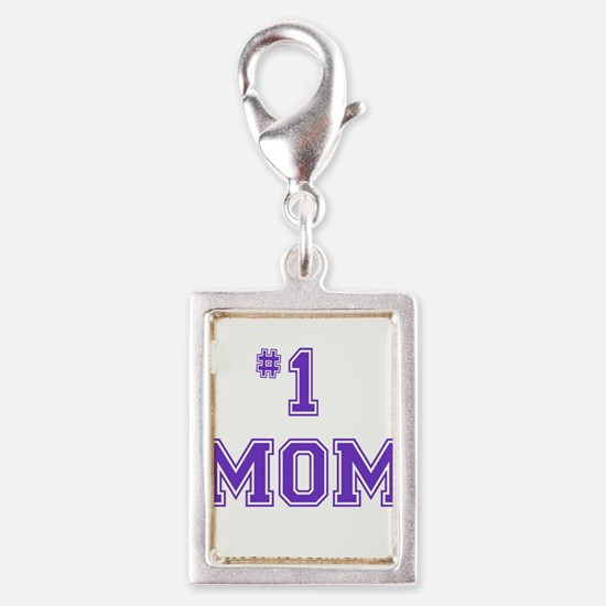 #1 Mom in purple Charms