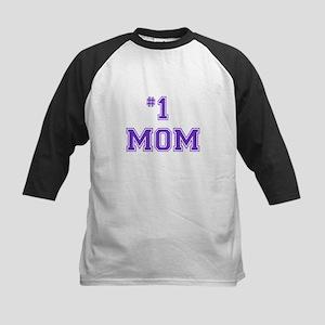 #1 Mom in purple Baseball Jersey