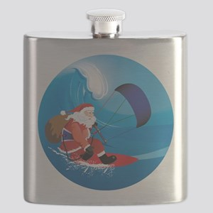 Santa KiteSurf Flask