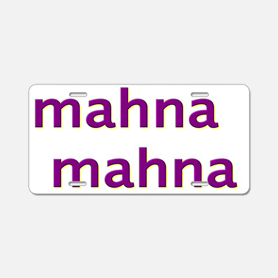 mahnamahnapurple Aluminum License Plate