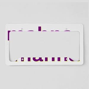 mahnamahnapurple License Plate Holder