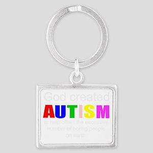 Autism vs boredom Landscape Keychain