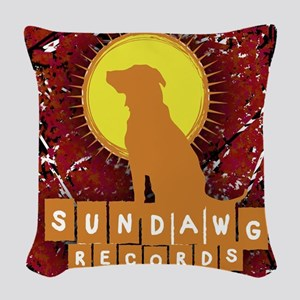 Sundawg Scribbles 2 Woven Throw Pillow