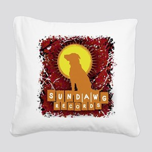 Sundawg Scribbles 2 Square Canvas Pillow