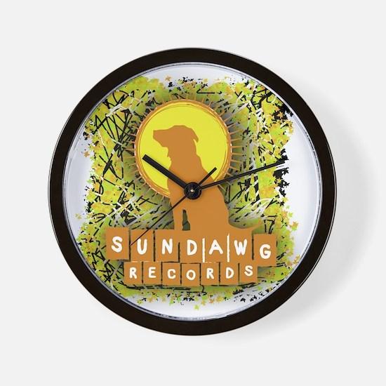 Sundawg Scribbles 1 Wall Clock