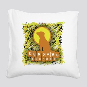 Sundawg Scribbles 1 Square Canvas Pillow