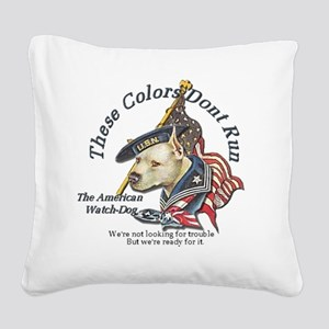 watchdog Square Canvas Pillow