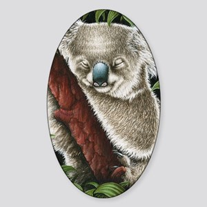 Koala Sleeping (Kindle Sleeve) Sticker (Oval)