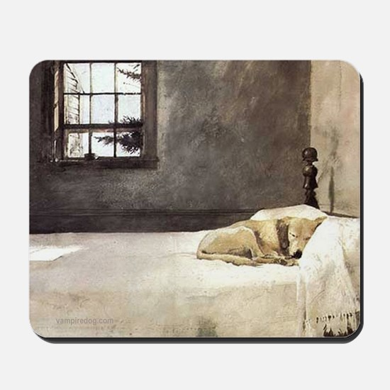 yellow lab wallet andrew wyeth copy Mousepad