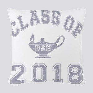 CO2018 BSN Grey Distressed Woven Throw Pillow