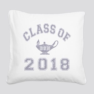 CO2018 BSN Grey Distressed Square Canvas Pillow