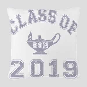 CO2019 BSN Grey Distressed Woven Throw Pillow