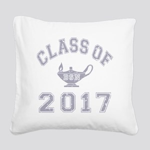 CO2017 BSN Grey Distressed Square Canvas Pillow