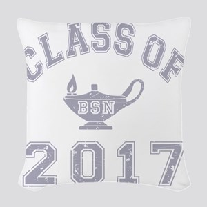 CO2017 BSN Grey Distressed Woven Throw Pillow