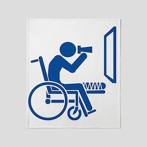 Rear Window Ethics - Blue Throw Blanket
