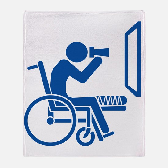 Rear Window Ethics - Blue Throw Blanket
