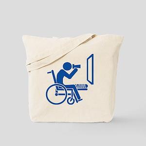 Rear Window Ethics - Blue Tote Bag