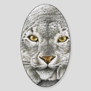 Snow Leopard (Kindle Sleeve) Sticker (Oval)
