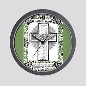 VINTAGE ST. PATRICK'S PRAYER Wall Clock