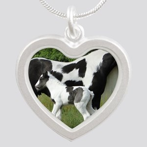 Calendar Chavali and foal Silver Heart Necklace