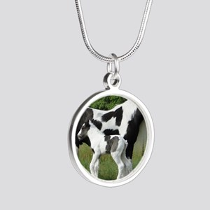 Calendar Chavali and foal Silver Round Necklace