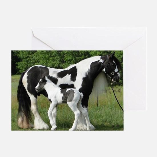 Calendar Chavali and foal Greeting Card