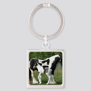 Calendar Chavali and foal Square Keychain