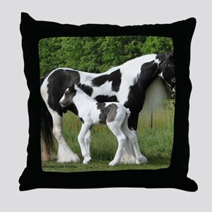 Calendar Chavali and foal Throw Pillow