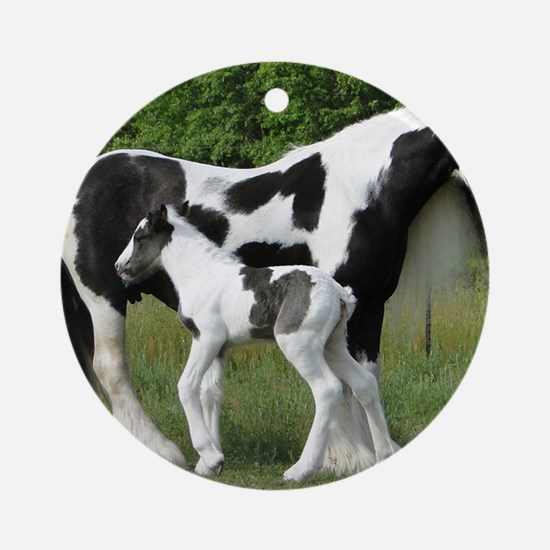 Calendar Chavali and foal Round Ornament