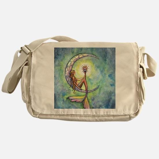 mermaid moon 9 x 12 cp Messenger Bag